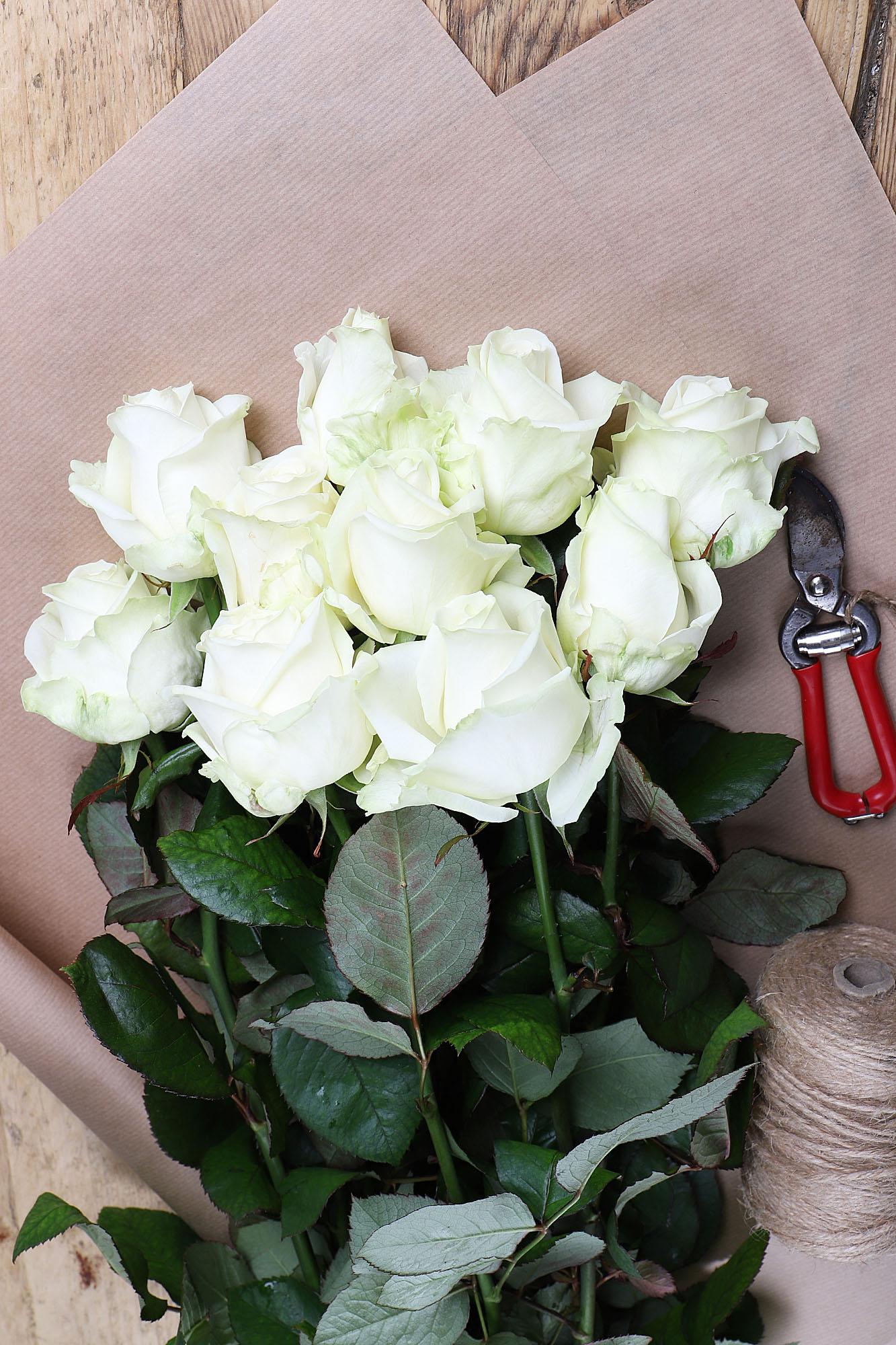 Valentines White Roses